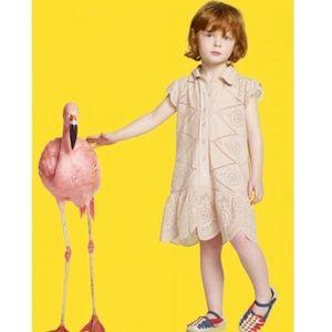 Stella McCartney for Gap girls pink eyelet dress